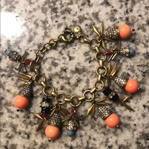 J crew jeweled color burst bracelet
